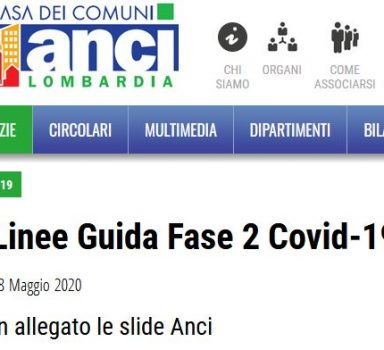 Covid19 – Linee guida Fase2 ANCI Lombardia